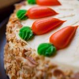 Κέικ στρώματος καρότων Στοκ φωτογραφίες με δικαίωμα ελεύθερης χρήσης