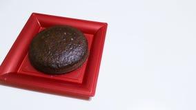 Κέικ σφουγγαριών κακάου Στοκ Φωτογραφία