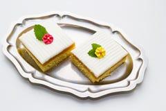 Κέικ σφουγγαριών Στοκ φωτογραφίες με δικαίωμα ελεύθερης χρήσης