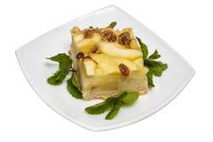 Κέικ της Apple με τα καρύδια Στοκ Εικόνα