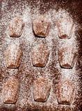 Κέικ της Madeleine στο σκοτεινό υπόβαθρο Στοκ φωτογραφίες με δικαίωμα ελεύθερης χρήσης