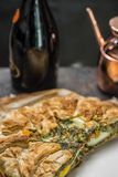 Κέικ της Pasqualina - ξινή, ιταλική παραλαβή Στοκ Εικόνες