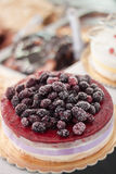 Κέικ του Blackberry Στοκ Εικόνες