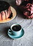 Κέικ τρόφιμα υγιή γκρίζα πέτρα ανασκόπησης Τοπ όψη διάστημα αντιγράφων στοκ φωτογραφίες