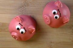 Κέικ υπό μορφή ροζ piggy Στοκ Φωτογραφίες