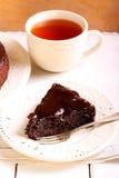 Κέικ φοντάν σοκολάτας στοκ εικόνες