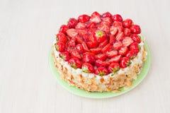 Κέικ φραουλών Στοκ φωτογραφία με δικαίωμα ελεύθερης χρήσης