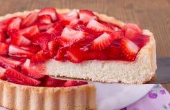 Κέικ φραουλών Στοκ Φωτογραφία