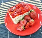 Κέικ φραουλών Στοκ Εικόνες
