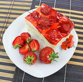 Κέικ φραουλών Στοκ Εικόνα