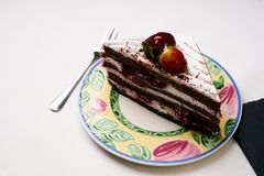 Κέικ φρούτων για διακοπές Χριστουγέννων Στοκ Φωτογραφίες