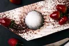 Κέικ φρούτων για διακοπές Χριστουγέννων Στοκ εικόνα με δικαίωμα ελεύθερης χρήσης