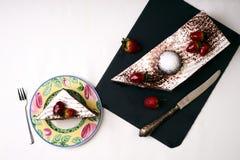 Κέικ φρούτων για διακοπές Χριστουγέννων Στοκ Εικόνα
