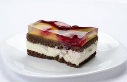 Κέικ φρούτων ζελατίνας Στοκ Φωτογραφίες