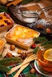 Κέικ φρούτων διακοπών Χριστουγέννων Στοκ Εικόνα
