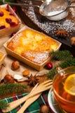Κέικ φρούτων διακοπών Χριστουγέννων Στοκ Φωτογραφίες