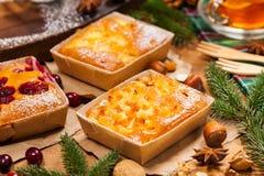 Κέικ φρούτων διακοπών Χριστουγέννων Στοκ φωτογραφία με δικαίωμα ελεύθερης χρήσης