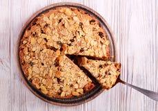 Κέικ φρούτων με το κάλυμμα αμυγδάλων Στοκ Εικόνες
