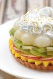 Κέικ φρούτων μιγμάτων στοκ εικόνα