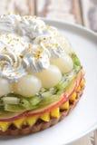 Κέικ φρούτων μιγμάτων στοκ εικόνες με δικαίωμα ελεύθερης χρήσης