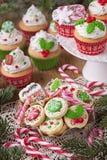 Κέικ φλυτζανιών Χριστουγέννων Στοκ Εικόνες