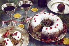 Κέικ Χριστουγέννων στοκ εικόνες