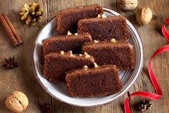 Κέικ Χριστουγέννων σοκολάτας Στοκ Εικόνα