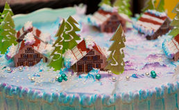 Κέικ Χριστουγέννων Στοκ Εικόνα