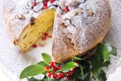 Κέικ Χριστουγέννων Panettone Στοκ Φωτογραφίες