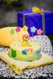 Κέικ Anazing για τα γενέθλια μωρών ` s Στοκ φωτογραφία με δικαίωμα ελεύθερης χρήσης