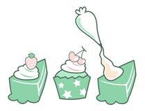 κέικ cupcake Στοκ Φωτογραφία