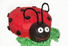 κέικ ladybug ένα Στοκ Εικόνα