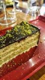 Κέικ Pistacchio στοκ εικόνα