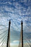 κέντρο γεφυρών penang Στοκ φωτογραφία με δικαίωμα ελεύθερης χρήσης