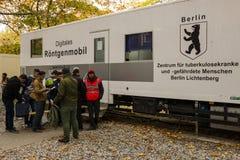 Κέντρο για την υποδοχή και την εγγραφή των προσφύγων - LaGeSo Στοκ Φωτογραφία