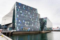 Κέντρο διαλέξεων Harpa στην πόλη του Ρέικιαβικ Στοκ Εικόνες