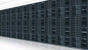 Κέντρο κεντρικών υπολογιστών στοιχείων - άποψη με το ζουμ καμερών φιλμ μικρού μήκους