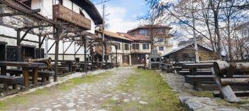 Κέντρο Μπάνσκο, Βουλγαρία τουριστών σκι Στοκ Εικόνα