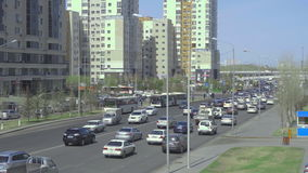 Κέντρο νέου Astana απόθεμα βίντεο