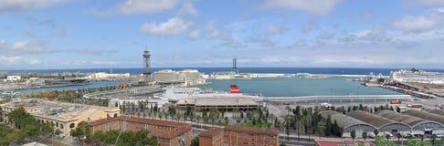 Κέντρο παγκόσμιου εμπορίου πανοράματος της Βαρκελώνης Στοκ Φωτογραφίες