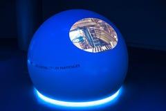 Κέντρο Πυρηνικών Μελετών και Ερευνών (CERN), ένα κτήριο έκθεσης μέσα. Στοκ Φωτογραφία