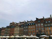 Κέντρο πόλεων της Βαρσοβίας Στοκ εικόνες με δικαίωμα ελεύθερης χρήσης