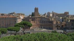Κέντρο πόλεων της Ρώμης, φόρουμ Trajan απόθεμα βίντεο