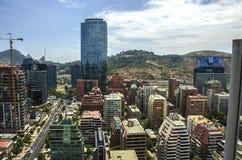 Κέντρο πόλεων του Σαντιάγο - Χιλή Στοκ Εικόνες