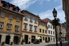 Κέντρο πόλεων στο Λουμπλιάνα, Σλοβενία στοκ φωτογραφίες με δικαίωμα ελεύθερης χρήσης