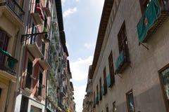 Κέντρο πόλεων στο Παμπλόνα στοκ εικόνα με δικαίωμα ελεύθερης χρήσης