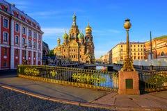 Κέντρο πόλεων της Αγία Πετρούπολης, Ρωσία Στοκ Εικόνες