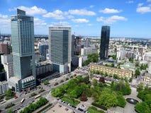 Κέντρο πόλεων της Βαρσοβίας Στοκ Εικόνες
