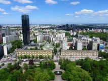 Κέντρο πόλεων της Βαρσοβίας Στοκ Φωτογραφία