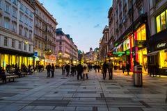 Κέντρο πόλεων της Βιέννης τη νύχτα Στοκ Εικόνες